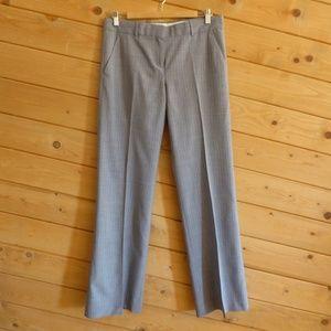 Theory Gray Pin Stripe Pants Emery Essex 100% Wool